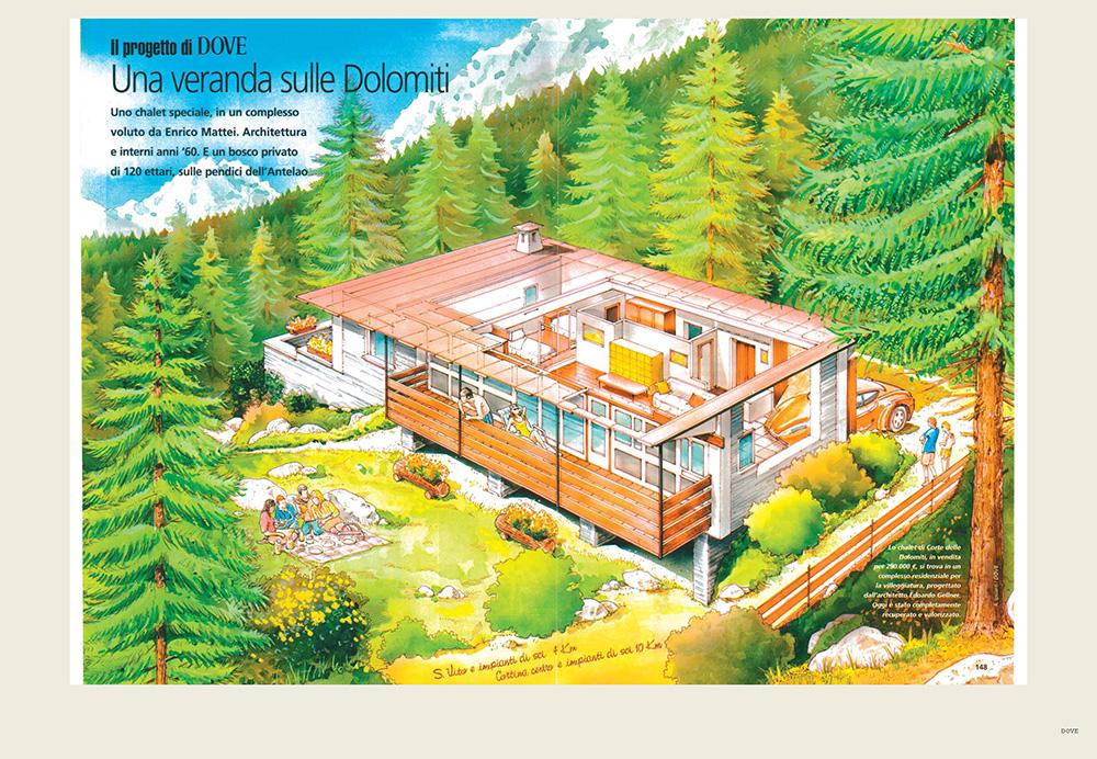 Una veranda sulle Dolomiti