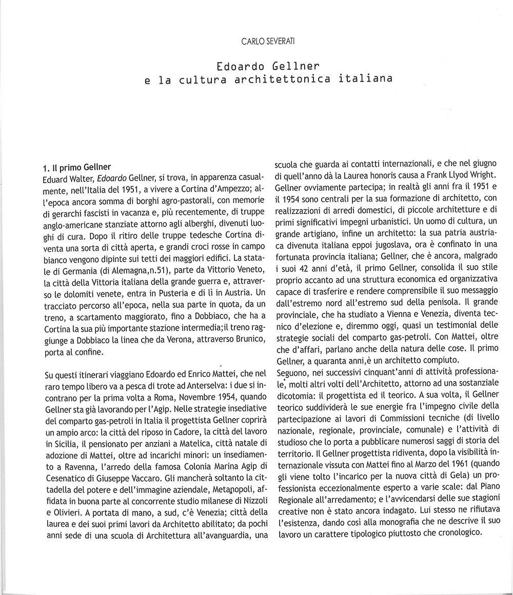 Architetture organiche per Enrico Mattei 1954 - 1961